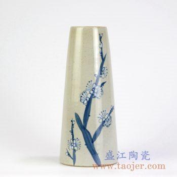 RZMB01-B 手绘梅花花瓶花插家居摆件景德镇陶瓷瓷器手工瓷器