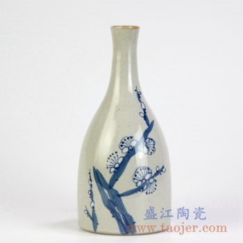 RZMB01-C 手绘梅花小花瓶花插景德镇陶瓷瓷器手工瓷器