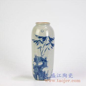 RZMB01-D  手绘青花竹子小花瓶花插景德镇陶瓷瓷器手工瓷器