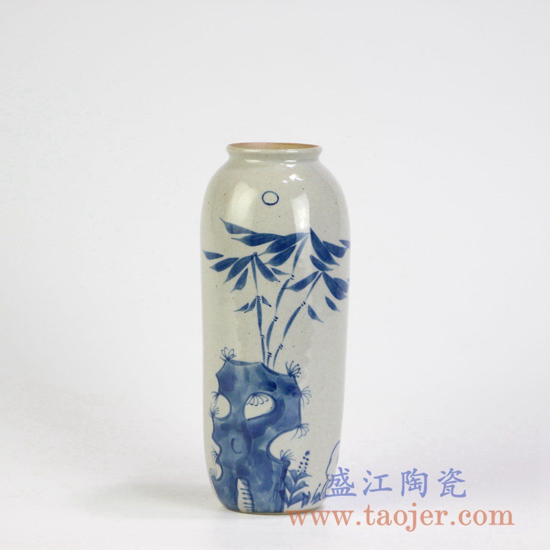 RZMB01-D  手绘青花小花瓶花插