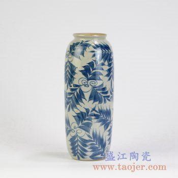 RZMB01-E   青花手绘花瓶花插花草景德镇陶瓷瓷器手工瓷器