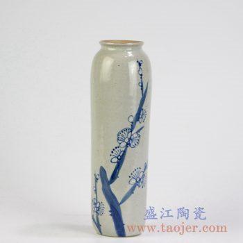 RZMB01-F    青花手绘梅花花瓶小花插景德镇陶瓷瓷器手工瓷器