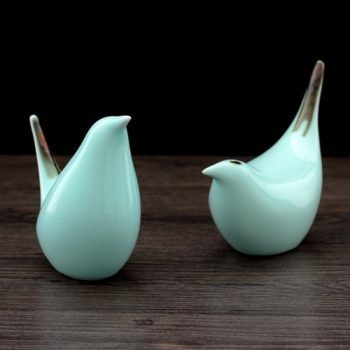 RZLY02 现代简约创意家居装饰品客厅酒柜陶瓷工艺品小鸟摆件结婚礼物礼品