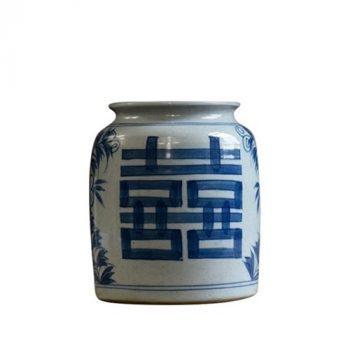 RZLZ03 景德镇陶瓷插画花瓶中式花瓶花瓶摆件双喜罐客厅玄关大花插陶罐子