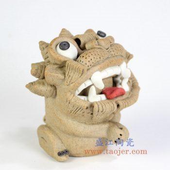 RZME01-景德镇陶瓷 全手工陶瓷雕塑 小瑞兽 陶艺摆件品