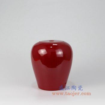 RZMG08_景德镇陶瓷 高温瓷低温颜色釉  中国红大红 红色  陶瓷灯具 台灯