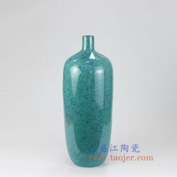 RZMG09_景德镇陶瓷 高温瓷低温颜色釉 炉钧釉 花釉 美人肩 尖嘴 花瓶 陶瓷