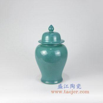 RZMG11_景德镇陶瓷 高温瓷低温颜色釉 炉钧釉 花釉 陶瓷 将军罐 储物罐