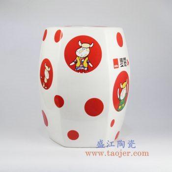 shengjiangdingzhidingzuo-RYIR122-d_定制 六方六边形 高温颜色釉 白色 麦蔻奶牛彩花 瓷凳 凳子 凉墩