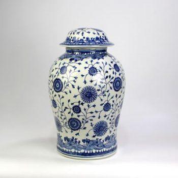 DS108-RYUV20_景德镇陶瓷 仿古手绘青花 陶瓷罐 储物罐
