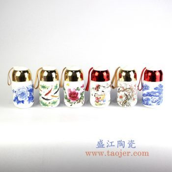 RZIN09_景德镇陶瓷 纯手绘 青花 粉彩 水杯 茶杯 保温杯