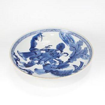RZKS11_景德镇陶瓷 纯手绘青花仿古 人物 赏盘 摆盘 收藏 古董