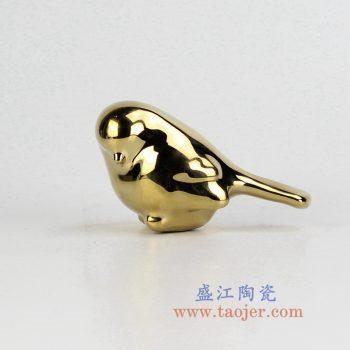 RZMH01-B-景德镇陶瓷 镀金 小鸟 陶瓷工艺品