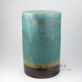 RYIR126 景德镇陶瓷 高温瓷低温颜色釉 三色直筒 圆凳 凉墩
