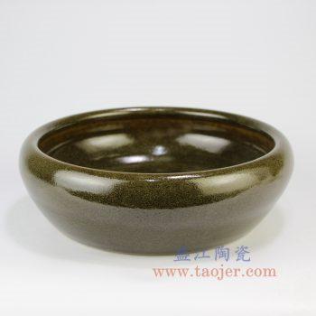 RZNB01_景德镇陶瓷手工 茶叶末 笔洗 水洗文房四宝摆件品