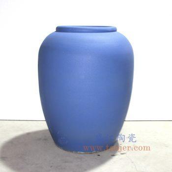 盛江定制-RZNC01_蓝色哑光釉 陶瓷罐