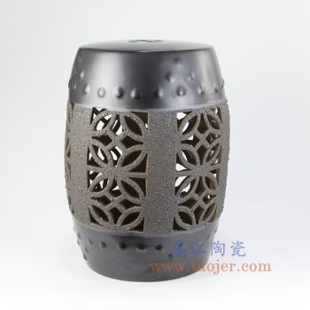 RYIR131_景德镇陶瓷 纯手工 镂空 雕刻 圆凳 凉墩