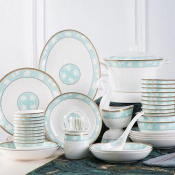 mj-04景德镇陶瓷餐具 瓷碗 饭碗家用套装 米饭碗盘子 北欧文艺 玉兰庭
