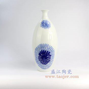 RZNG03_景德镇陶瓷 纯手绘 青花 创意 陶瓷瓶 花插花瓶