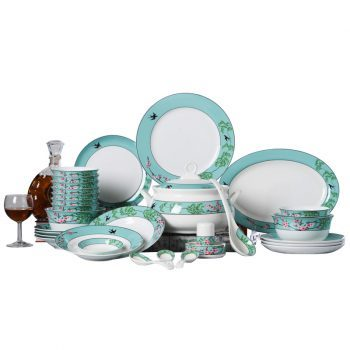 ZPK-228景德镇陶瓷碗碟骨瓷餐具套装中式家用创意瓷器组合58头春意盎然