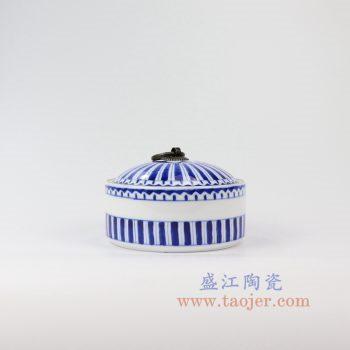 RZNM01_景德镇陶瓷 手绘青花茶叶罐盖罐储物罐