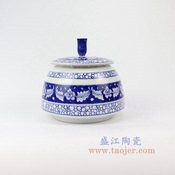RZNM02_景德镇陶瓷 手绘青花茶叶罐盖罐储物罐