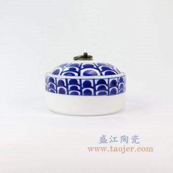 RZNM04_景德镇陶瓷 手绘青花茶叶罐盖罐储物罐