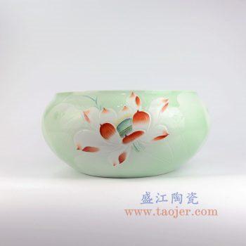 RZNP02_景德镇陶瓷 聚宝盆摆件小鱼缸陶瓷龟缸瓷缸工艺品中式摆件
