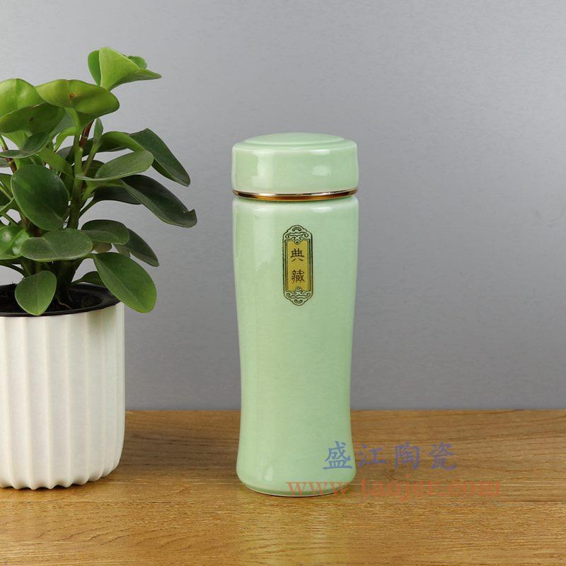 盛江陶瓷 手工颜色釉双层单色釉 景德镇 保温杯
