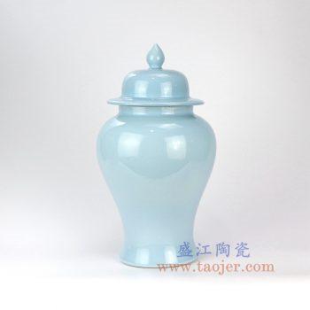 RZNS02-景德镇陶瓷 高温瓷 颜色釉 天蓝色将军罐