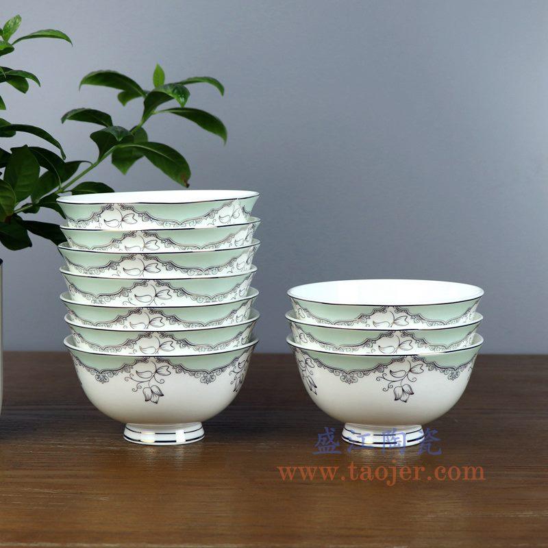 盛江陶瓷 4.5寸高骨瓷骨瓷碗