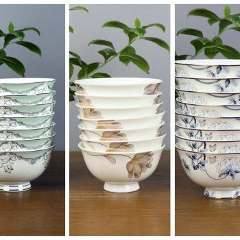 ZPK91-A-C-景德镇陶瓷 4.5英寸高骨瓷骨瓷碗 高脚碗 饭碗