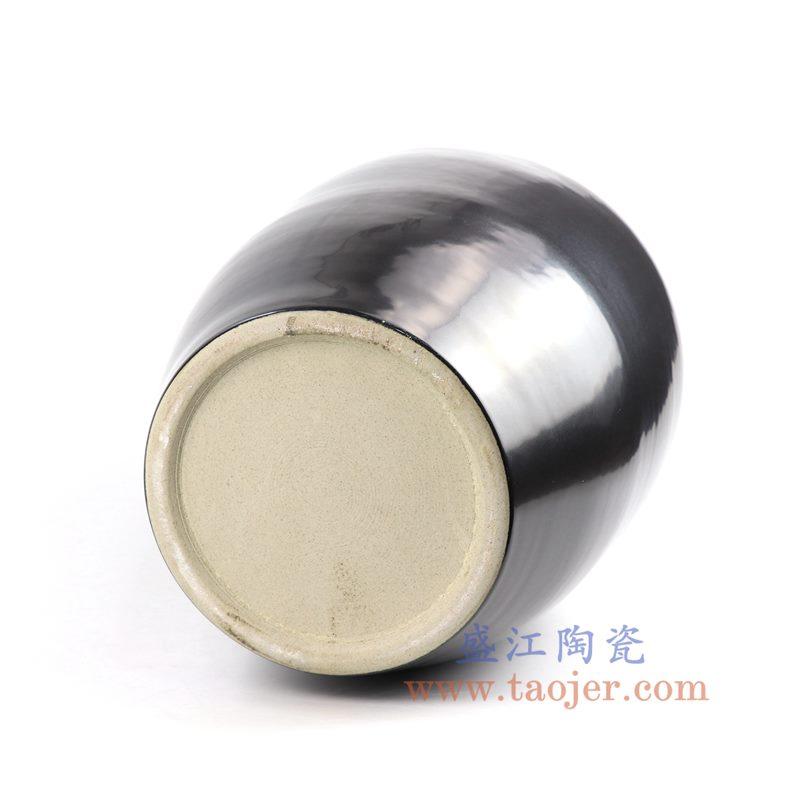 RZNS01_盛江陶瓷 手工颜色釉黑色陶瓷罐 花瓶