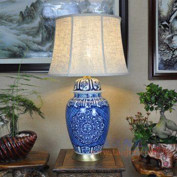 DS-RZFQ29-景德镇陶瓷 纯手工青花瓷陶瓷台灯