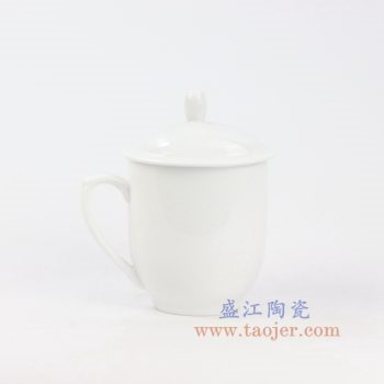 RZIC03-H 景德镇陶瓷 纯手工 纯白 高白景式杯