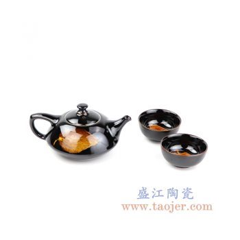 RZOI01-景德镇陶瓷 纯手工 黑釉木业天目盏 功夫茶具