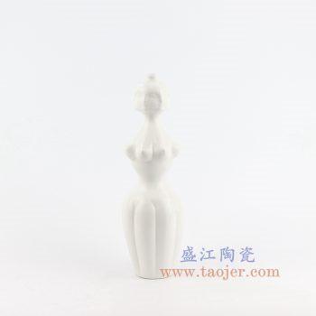 RZLK25-H 景德镇陶瓷 北欧白色陶瓷人面花瓶 妖娆的伊迪