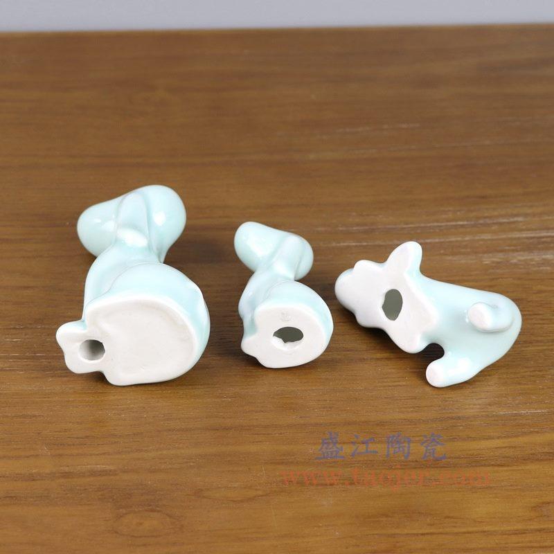 盛江陶瓷 纯手工创意雕塑小摆件