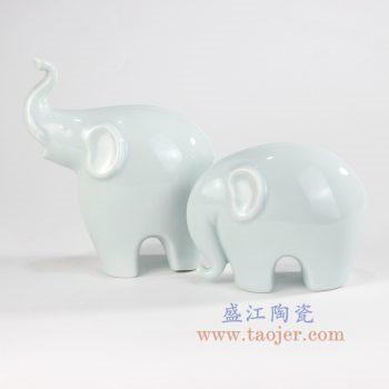 RZOF03 景德镇陶瓷 纯手工创意大象雕塑小摆件