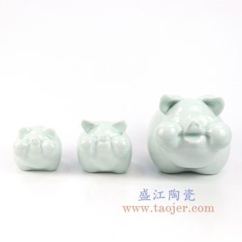 RZOG01 景德镇陶瓷 纯手工创意小猪雕塑小摆件
