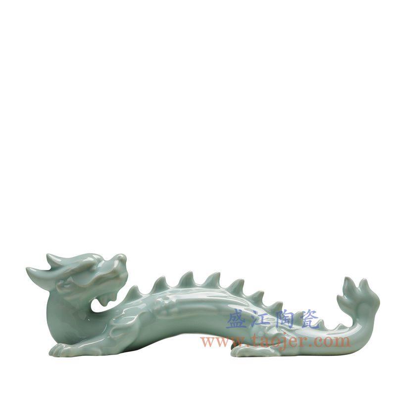 上图:RZON02-A 盛江陶瓷 纯手工影青 龙 书房客厅装饰摆件 毛笔架