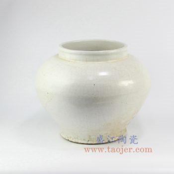 RZNA03-景德镇陶瓷 仿古明朝 亚光白 陶瓷罐