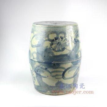 RZNA04-景德镇陶瓷 仿古  明朝手绘青花 陶瓷凳 凉墩