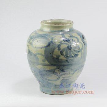 RZNA06-景德镇陶瓷 仿古 手绘青花 陶瓷罐 花插花瓶