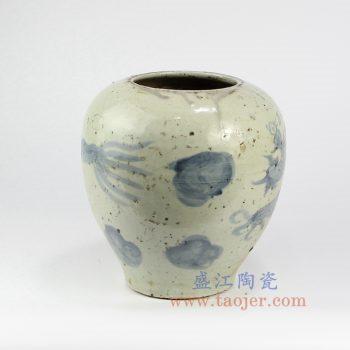 RZNA10-景德镇陶瓷 仿古 明朝写意 手工 青花 陶瓷罐