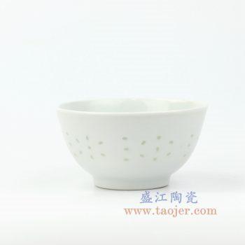 RZKG07 景德镇厂货玲珑碗 4.5寸饭碗