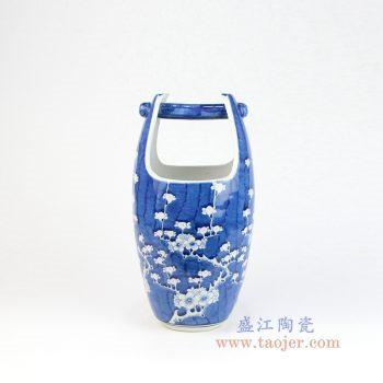 RYLU160 景德镇陶瓷 青花冰梅木桶水桶造型