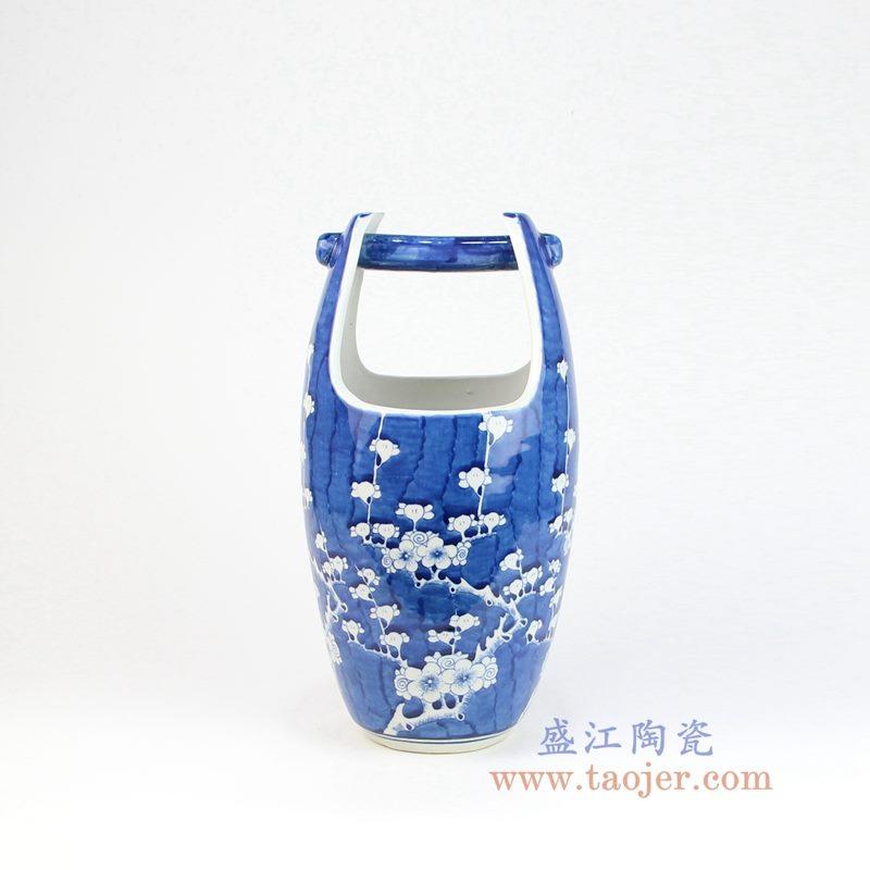 RYLU160 盛江陶瓷 青花冰梅木桶水桶造型