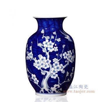 RYUG02-F 景德镇陶瓷 陶瓷手绘喜上眉梢冬瓜瓶