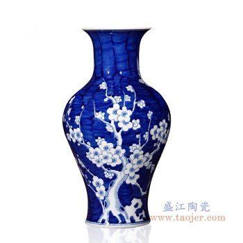 RYUG02-G 景德镇陶瓷 手绘喜上眉梢鱼纹瓶